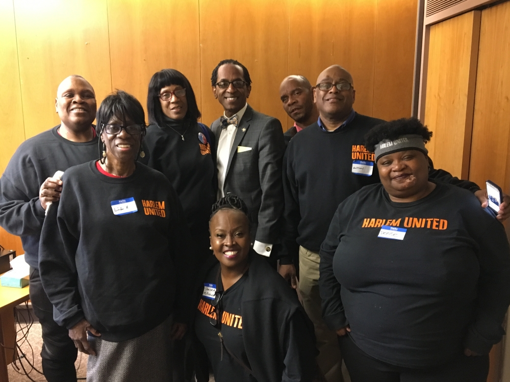 Assemblymember Al Taylor met with members of Harlem United in Albany Monday, March 5 2018 to discuss issues of concern in the community.