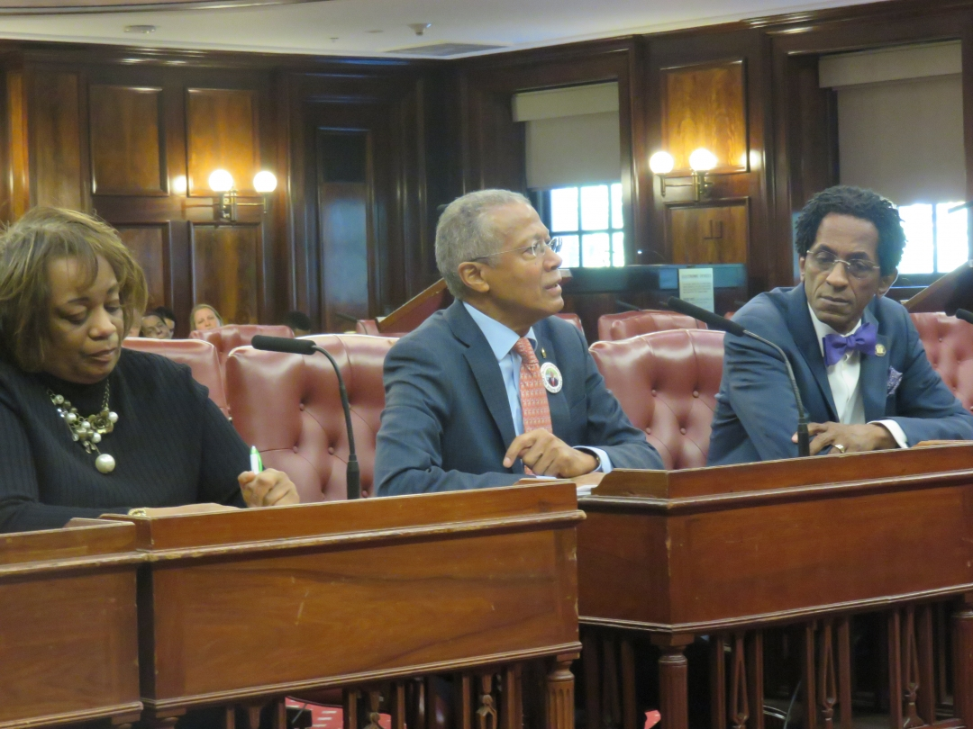 Assemblymember Al Taylor, Assemblymember Taylor's Counsel, Darlene Bruce, and Senator Robert Jackson testified before the New York City Council's Committee on Housing and Buildings on Octobe