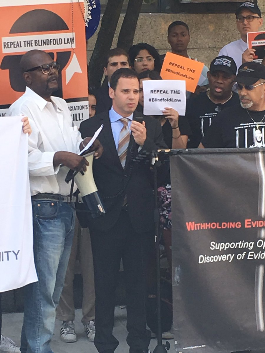 Repealing the Blindfold Law is long over-due. We must modernize and make discovery laws more fair for New Yorkers.