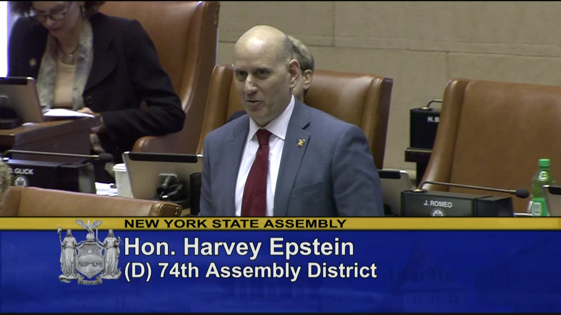Epstein Introduces West Point Cadet Brian Patterson to Assembly Chamber