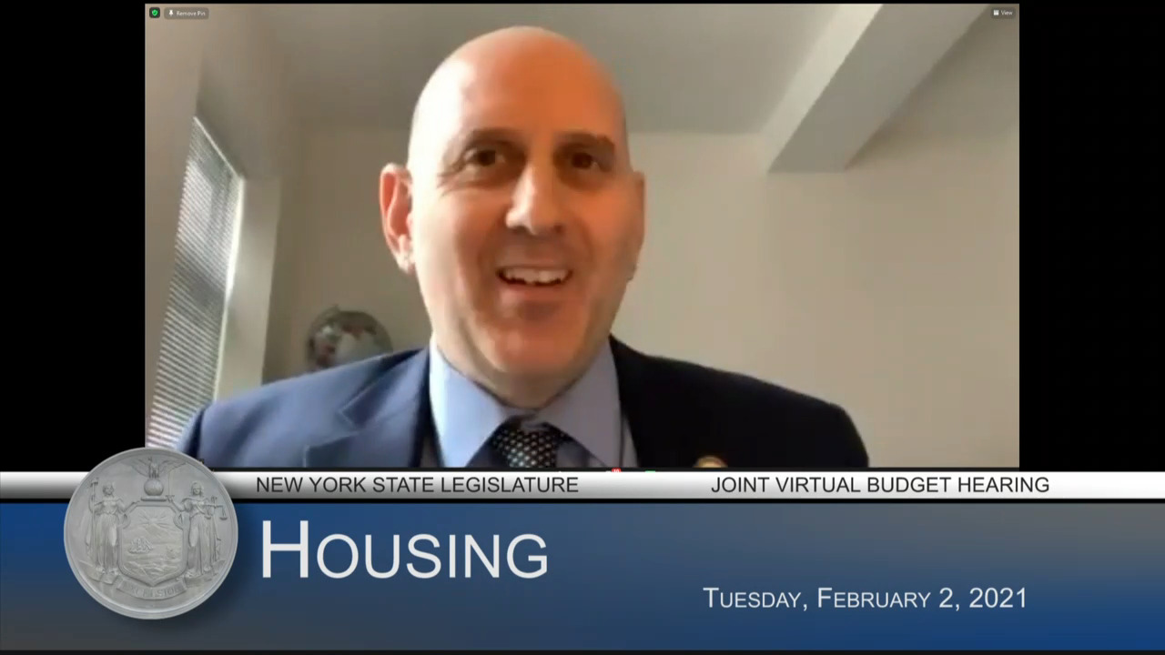 Epstein Questions State Housing Commissioner During Budget Hearing on Housing