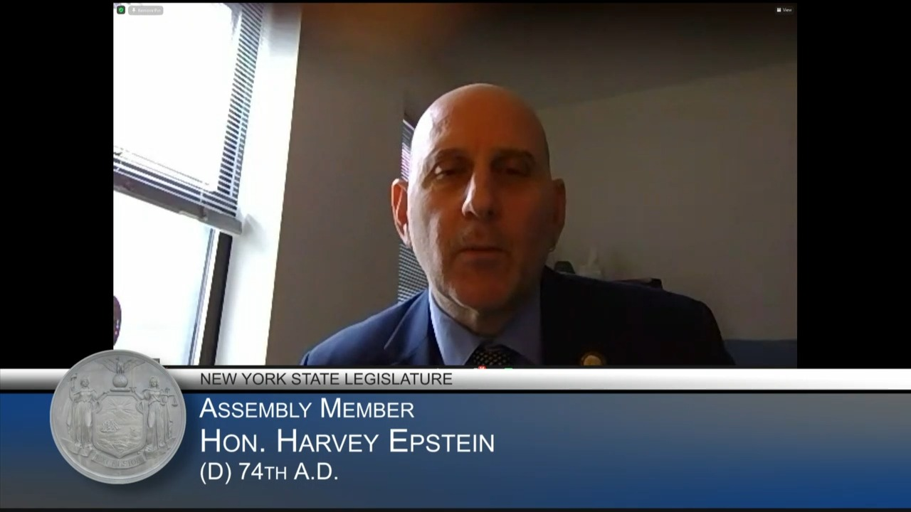 Epstein Questions Housing Advocates During The Budget Hearing