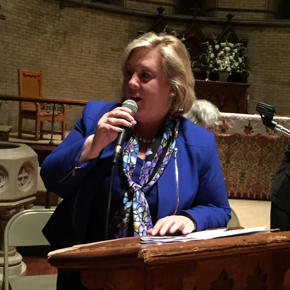 May 21, 2015� Chapel of the Good Shepherd, Roosevelt Island -- Assembly Member Seawright began the Town Hall with an announcement that she had just received an email from the Governor�s office releasing the Public Purpose Funds.