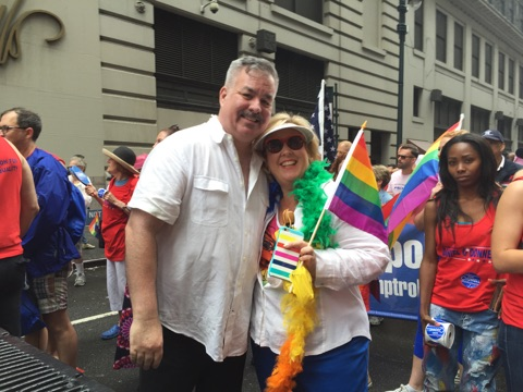 Assembly Member Seawright celebrates Pride with Assembly Member Daniel O�Donnell