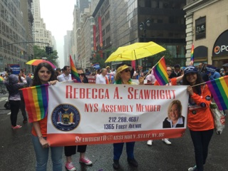 Assembly Member Seawright marches at the Pride parade on June 28th 2015