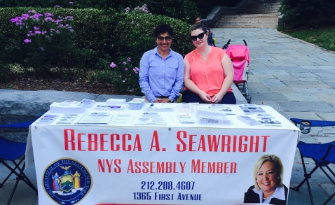 National Night Out, August 4, 2015---Carl Schurz Park, NYC---Assembly Member Seawright�s constituent services team.