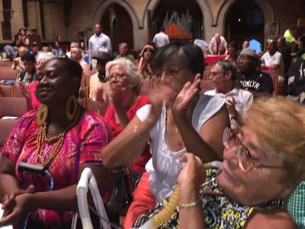 August 5, 2015� Chapel of the Good Shepherd, Roosevelt Island --- Roosevelt Island residents welcome Public Advocate Letitia James.