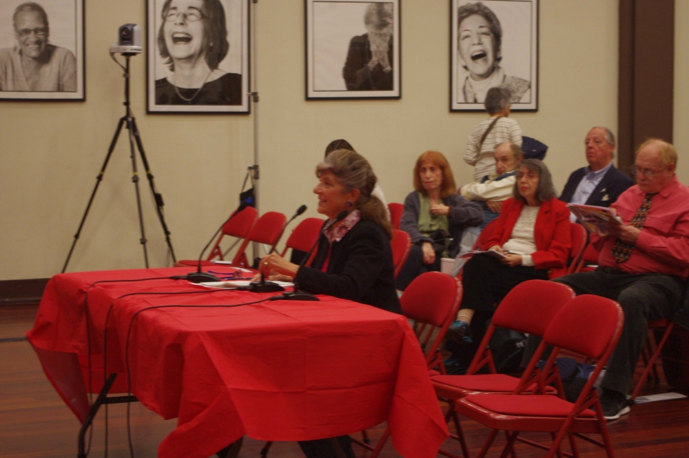 Joyce Short, Roosevelt Island Residents Association, testifying at the Assembly Member�s Senior Consumer Fraud Hearing.