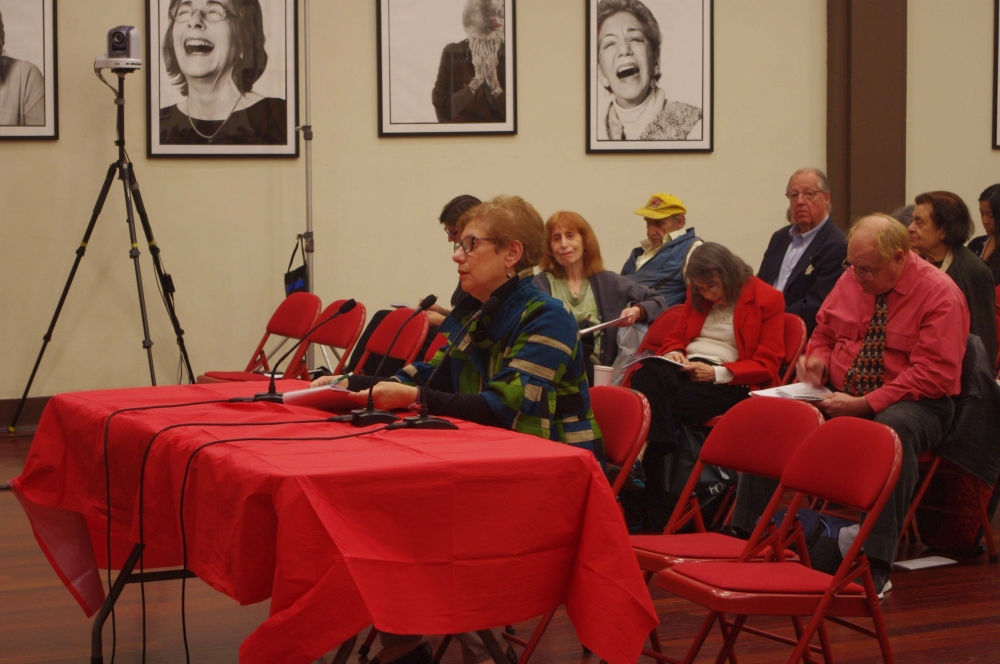 Susan Birenbaum, East 79th Street Association, testifying at the Assembly Member�s Senior Consumer Fraud Hearing.