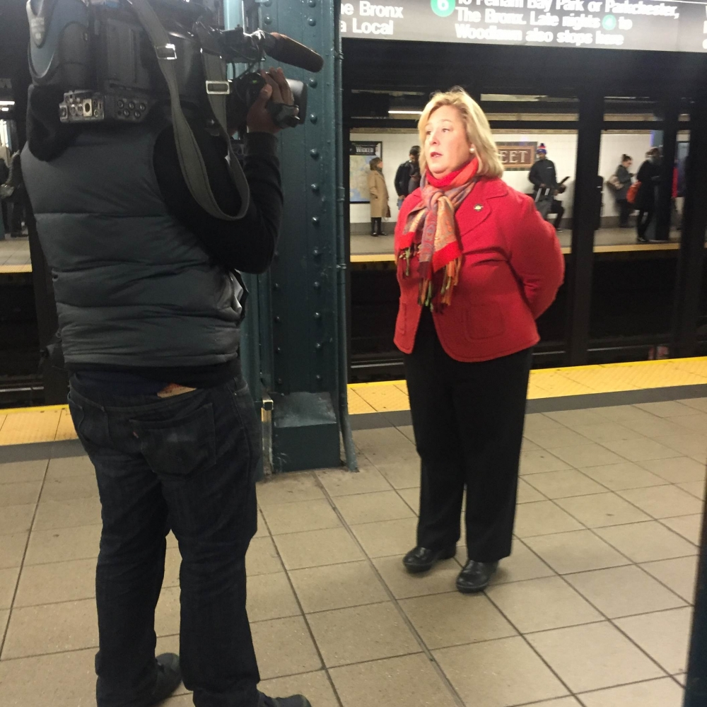 December 8, 2015---86th Street Uptown Lexington Line---In an interview with MSNBC, �Wifi is essential to the safety and convenience of our New York City Commuters,� said Seawright.