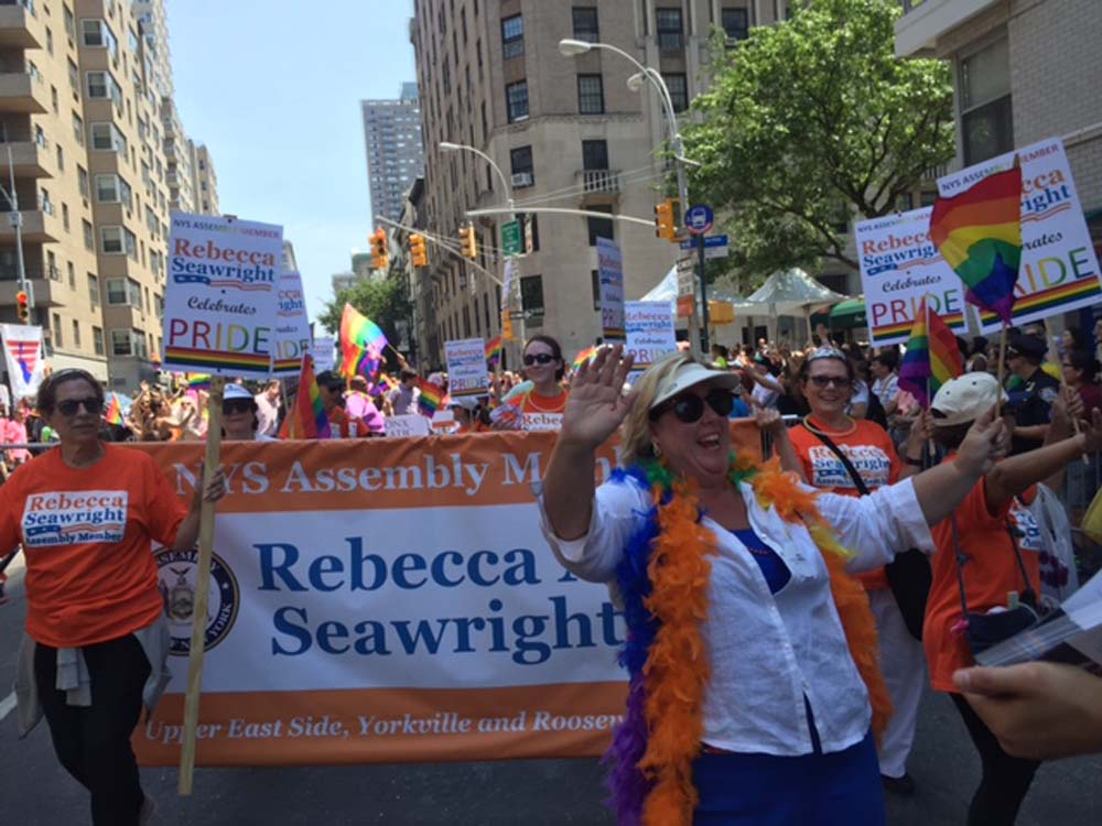 This weekend, I marched with thousands of New Yorkers in the 2016 NYC Pride Parade.  As a proud ally of the LGBTQ community, it was remarkable to see the outpouring of support, respect, unity and love demonstrated by the marchers and spectators.  Yesterday's parade was an unprecedented showing of unity for those whose lives were lost in Orlando and the entire LGBTQ community.  Thank you to my family, friends, staff and constituents who joined me for the parade.
