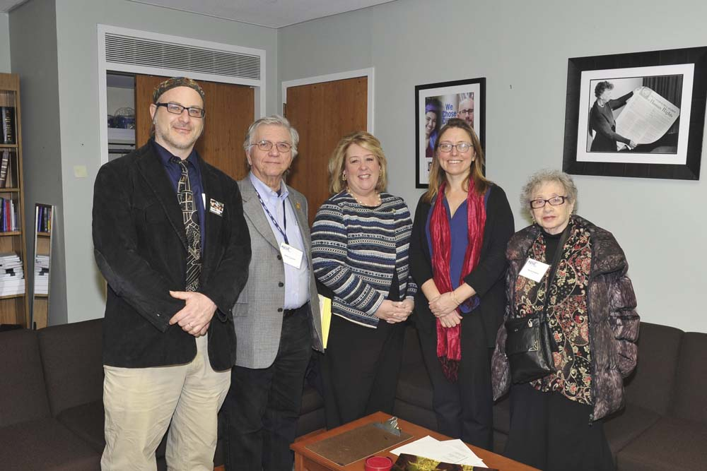 March 2, 2017 – Seawright Meets with PSC Faculty Union Members in Capitol Office<br />