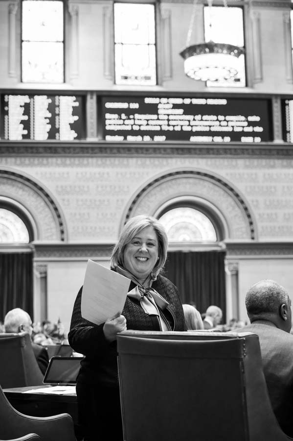 March 20, 2017 – On March 20, 2017, New York State Assembly passed A5487, legislation introduced by Assembly Member Rebecca A. Seawright that would identify how many policy-making positions are held by women in New York State Government.<br />