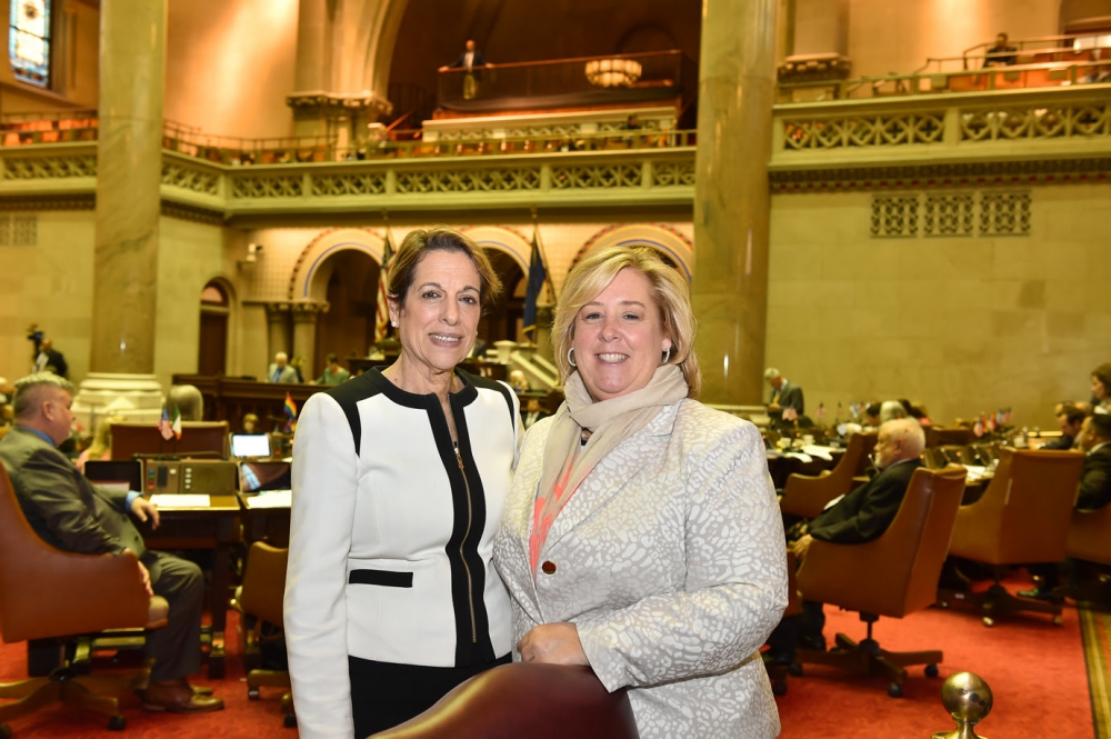 Sandra Wilkin, President of an MWBE firm and Co-Founder of Women's Builders Council joined Seawright in the Assembly Chambers on Tuesday, June 6.<br />