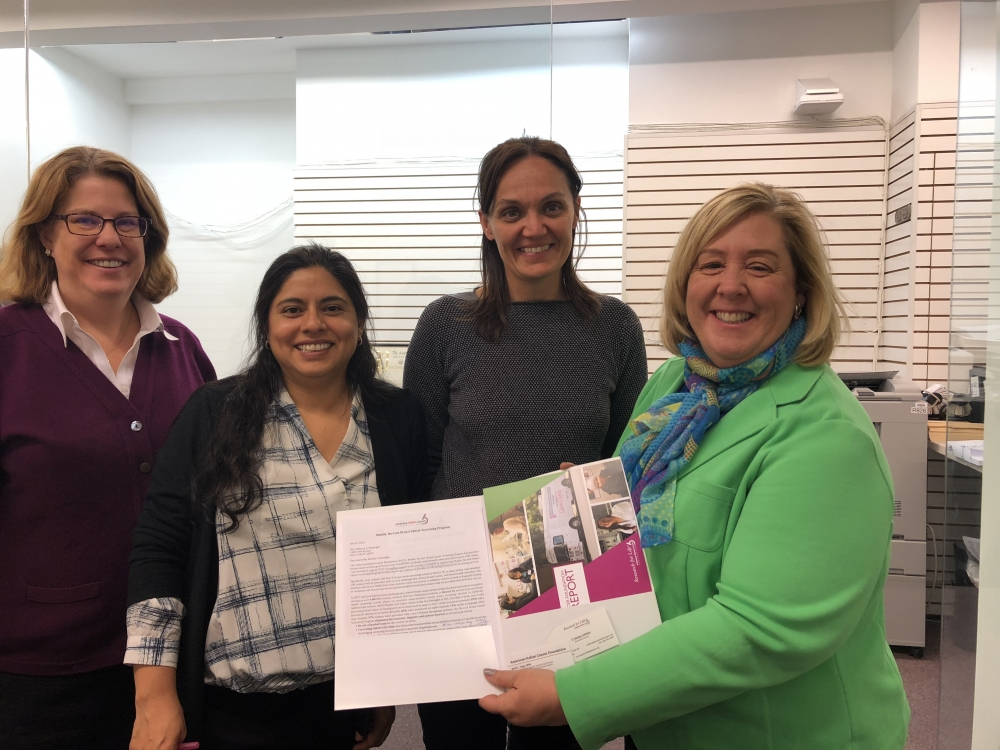 The American Italian Cancer Foundation met with Seawright to discuss legislation funding their mobile, no-cost breast cancer screening program, increasing access to care in our community.<br />