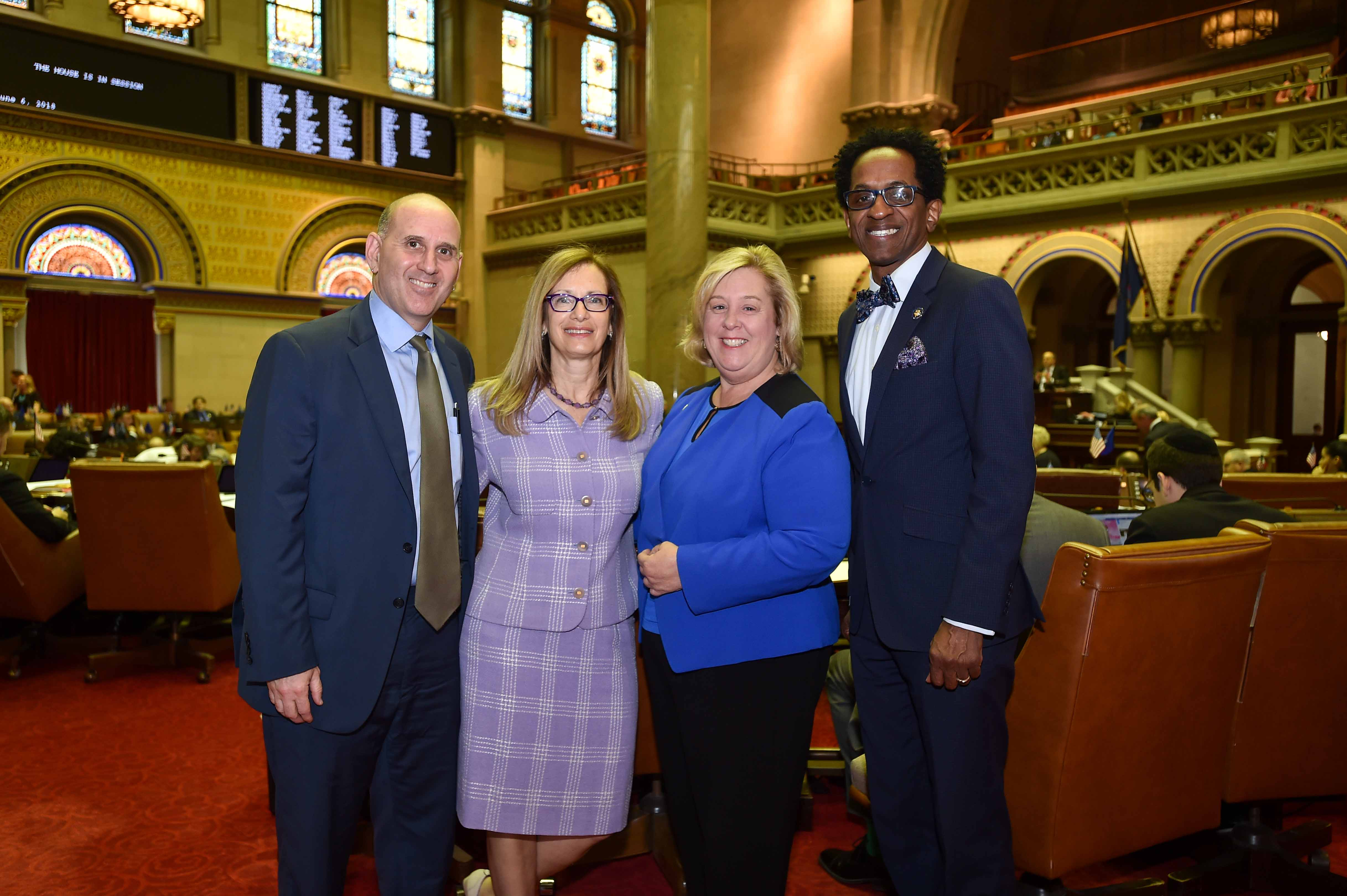 Community Leader Jill Eisner visits Albany for the non-toxic New York Day in Albany.<br />&nbsp;