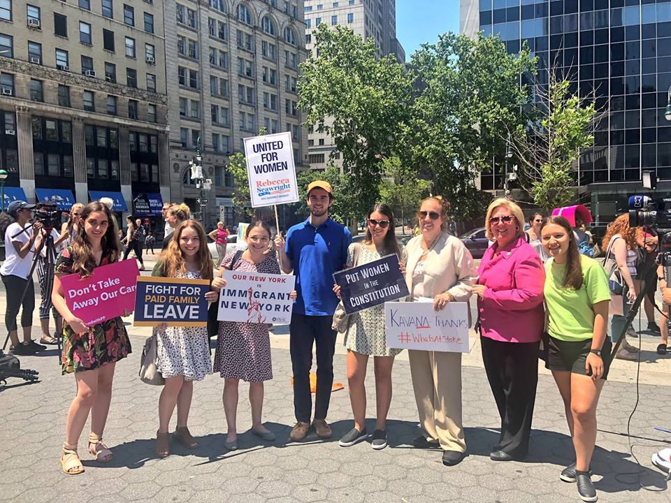 Assembly Member Seawright joined with New York City elected officials and representatives from local and national women's organizations to oppose Brett Kavanaugh, President Trump's Supreme Court nominee to replace retiring Justice Anthony Kennedy.