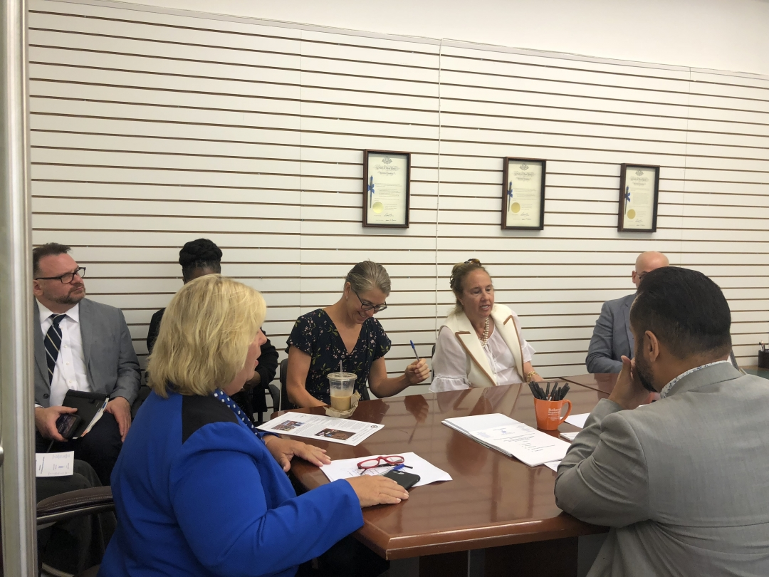 Assembly Member Seawright hosts meeting with HCR and elected officials at the district community office. &nbsp;<br />&nbsp;