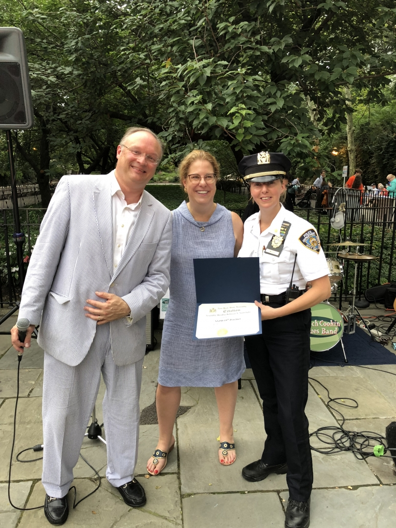 The 19th Precinct hosted a very successful Night Out at Carl Schurz Park. Our office had the opportunity to present Deputy Inspector Kathleen Walsh with a citation for the exemplary job she does leading the 19th Precinct in their efforts to connect the community and keep us all safe. The event was part of a much larger National Night Out with the goal of creating stronger bonds between the local police and the communities which they serve.<br />&nbsp;