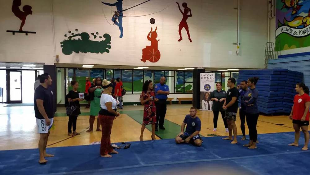 Assemblywoman Joyner, in conjunction with Council Member Vanessa Gibson, NYPD�s 46th Precinct and Roberto Clemente State Park, offer free self-defense classes to women.