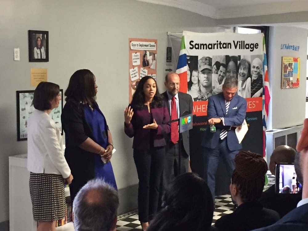Assemblywoman Latoya Joyner joined by Council Member Vanessa L. Gibson, the New York City Department of Education and the New York City Department of Social Services, as she announces new funding to h