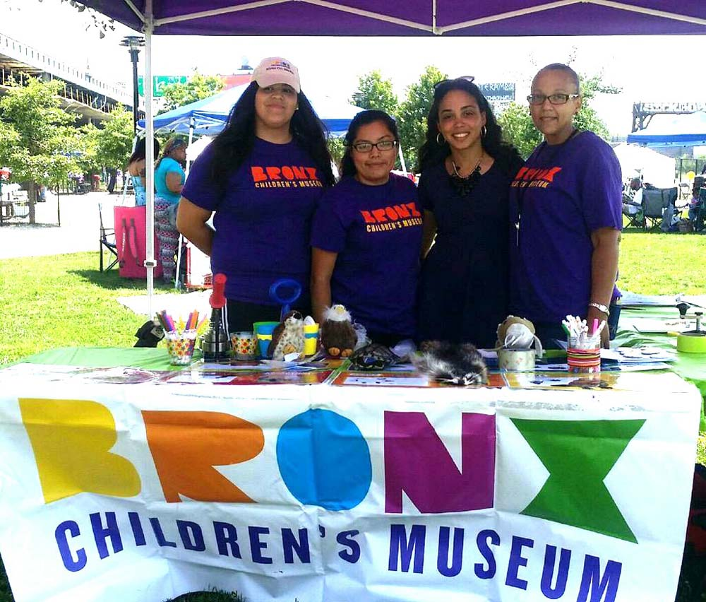 Assemblywoman Latoya Joyner with staff from the Bronx Children's Museum - the only children's museum in the borough.  <br />