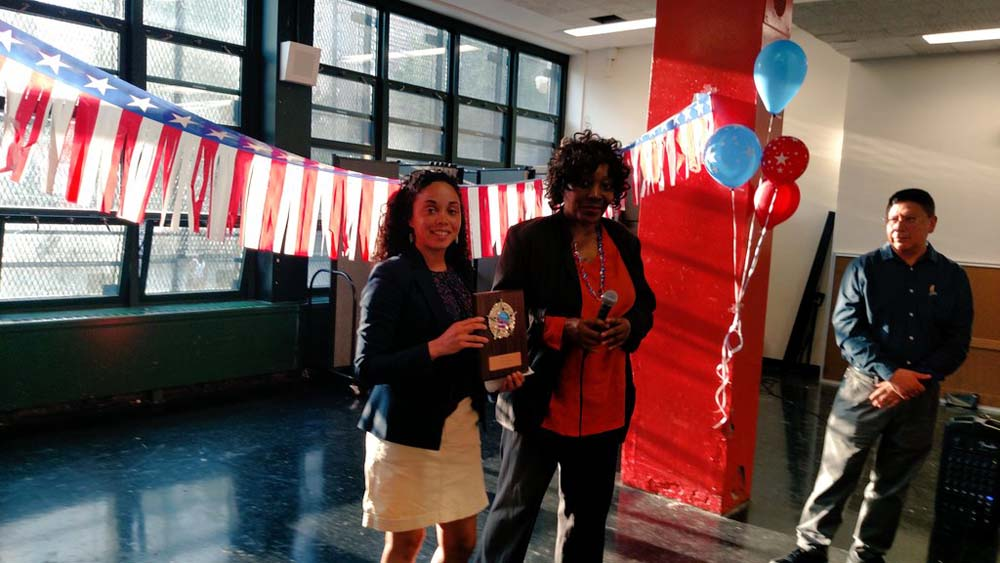 Assemblywoman Latoya Joyner was honored to receive recognition from Community Education Council District 9.