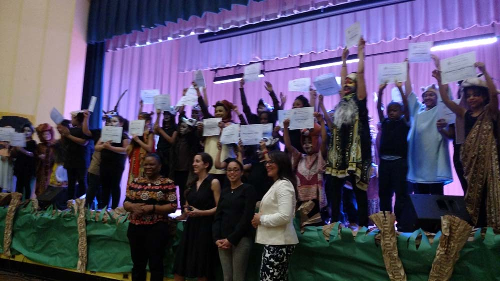 Assemblywoman Latoya Joyner joined P.S. 109 The Sedgwick School, Principal Josette Claudio and its school community as it performed Disney's The Lion King. Assemblywoman Joyner presented certific