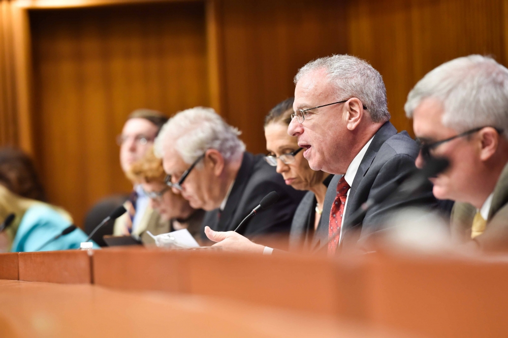 Assemblyman Dinowitz speaking as Chair of the Committee on Corporations Authorities and Commissions during today's hearing on the Public Service Commission's Clean Energy Standard.