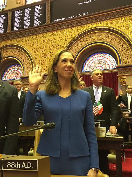 Amy Paulin is sworn in for another two-year year term serving the people of Westchester.