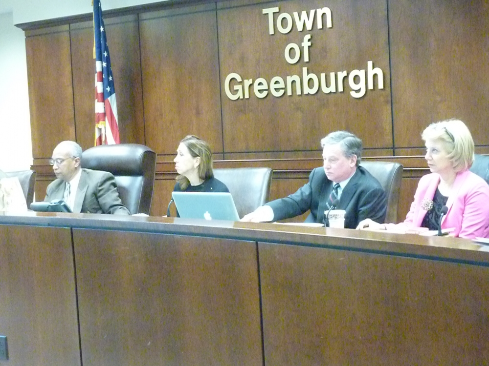 Assemblywoman Amy Paulin talks to candidates during the Jan. 16 Board of Regents interviews in Greenburgh.