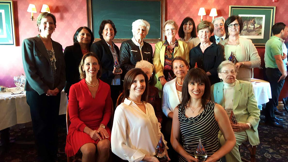 Assemblywoman Amy Paulin handed out her Tuckahoe Women of Distinction Awards during an April 17 reception at the Tap House in Tuckahoe. Susan Ciamarra, Fay Blasi, Alice White, Swadesh Pachnanda, Steph