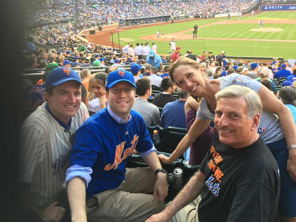 Assemblywoman Amy Paulin went to see the Mets and the Royals at Citi Field with Assembly members David Buchwald, James Skoufis and David Weprin.
