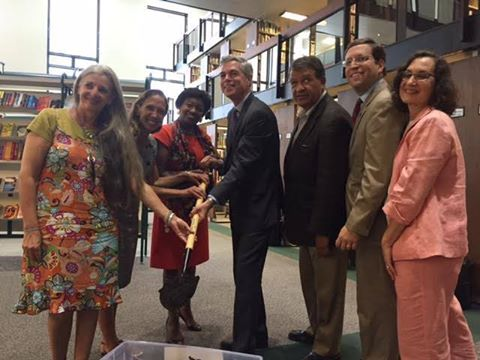 Assemblywoman Amy Paulin was joined by fellow legislators David Buchwald, George Latimer and Andrea Stewart-Cousins at the White Plains Library for a press conference about The Hub, the new library fo