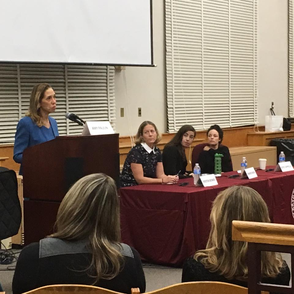 "Assemblywoman Amy Paulin hosted a viewing of ""Audrie Daisy"" at Scarsdale High School's Little Theater. It is a powerful and moving documentary that provides a frank examination of the a"