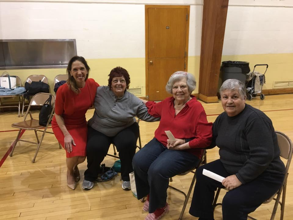 Assemblywoman Amy Paulin visited the Reformed Church of Bronxville and gave out holiday cookies to the seniors group.