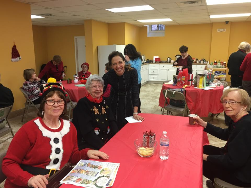 Assemblywoman Amy Paulin delivered holiday cookies to the Eastchester seniors.
