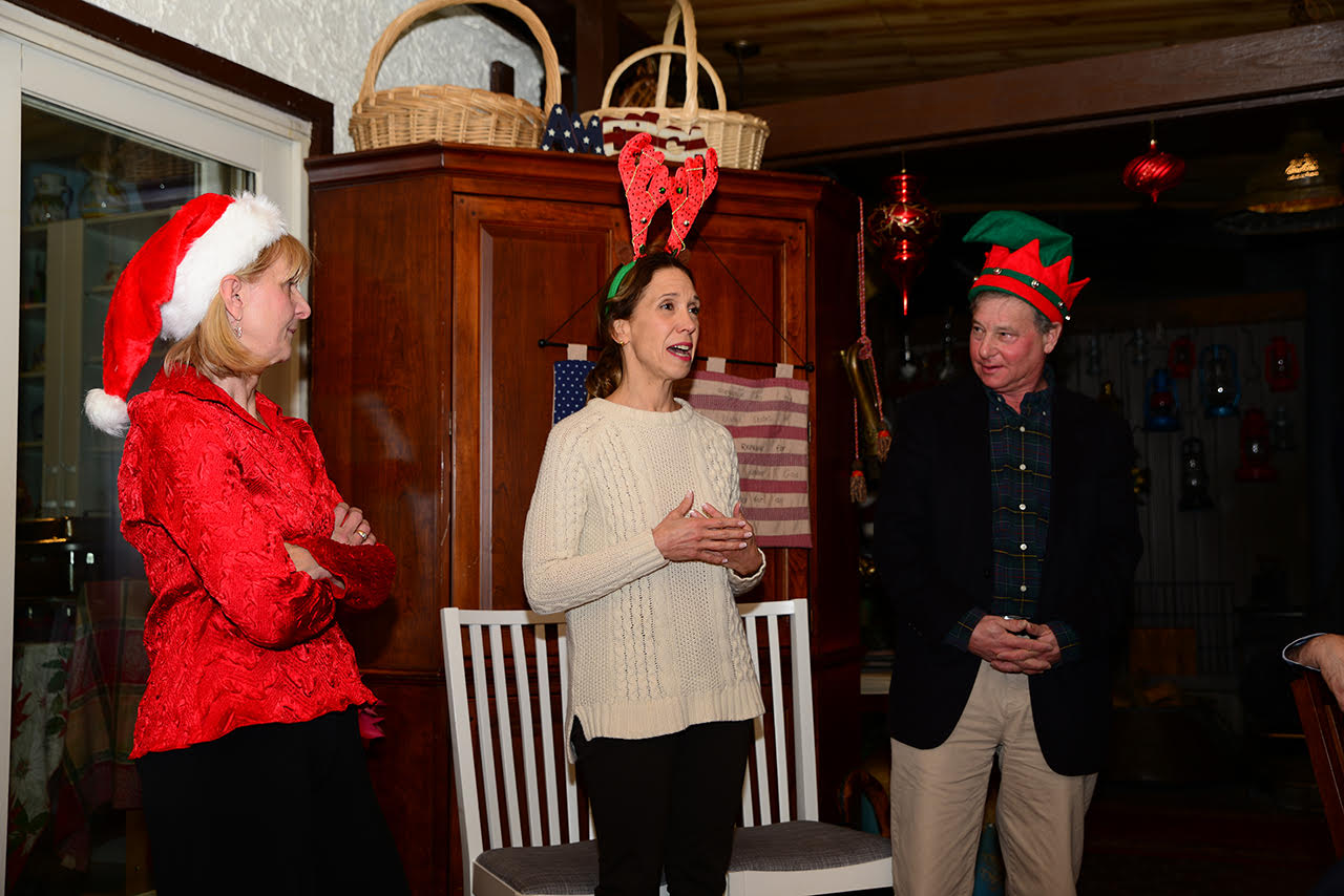 Assemblywoman Amy Paulin spoke at the New Rochelle Greenhouse Holiday Party.