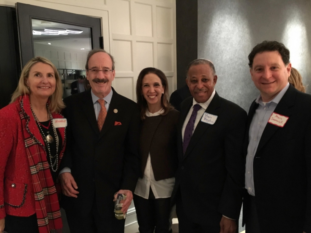 Assemblywoman Amy Paulin was at the Scarsdale League of Women Voters event with Congressman Eliot Engel.