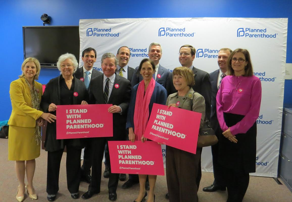 Assemblywoman Amy Paulin was among a host of legislators who attended Planned Parenthood's press conference in Albany as a show of support.