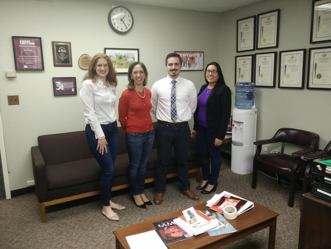 Amy Paulin's Albany office staff observed Denim Day on April 26.