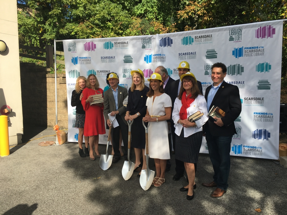 Assemblywoman Amy Paulin attended the groundbreaking for the Scarsdale Interim Library on Oct. 3. She was instrumental in helping the project, securing $500,000 in funding.