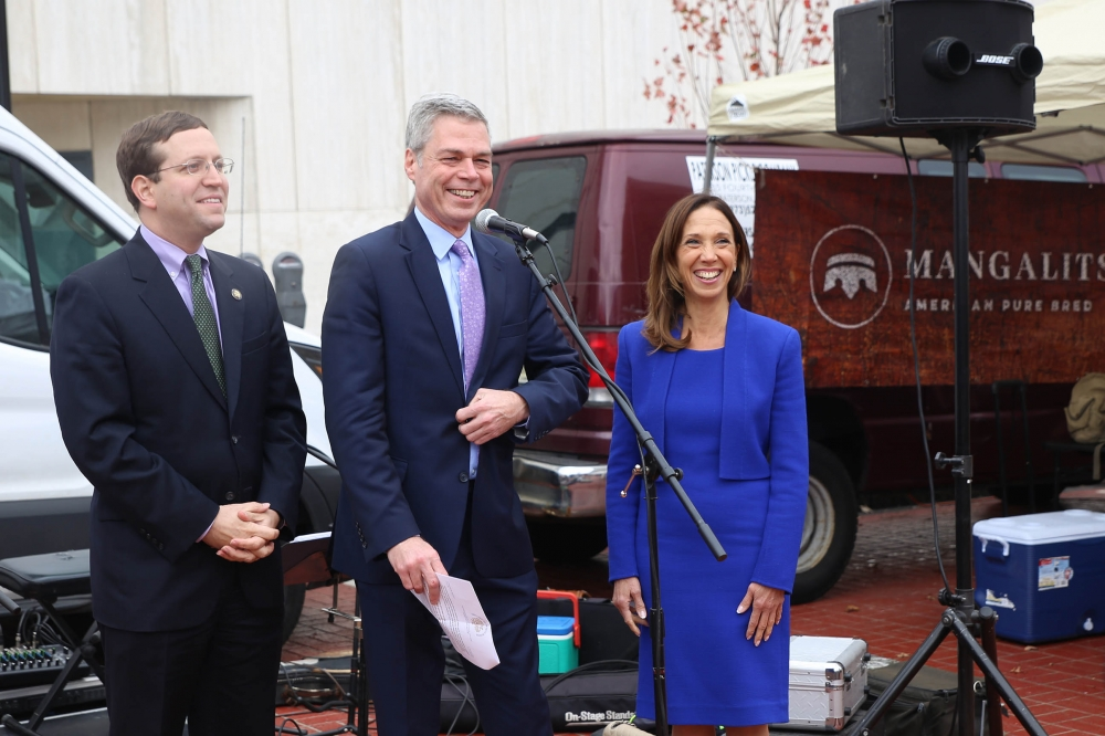 Assemblywoman Amy Paulin was in White Plains to take part in the celebration for the 're-opening' of a one-block section of Court Street. The street is the site of so many events in White Pl