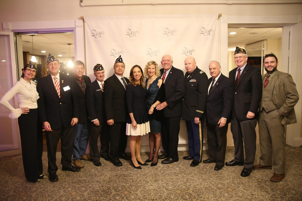 Assemblywoman Amy Paulin celebrated Veterans Day with Pelham vets at The Davenport Club.
