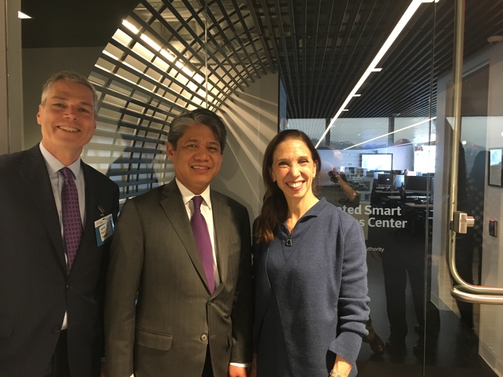 Assemblywoman Amy Paulin toured the New York Power Authority facility in White Plains with White Plains mayor Tom Roach and NYPA President/CEO Gil Quiniones.