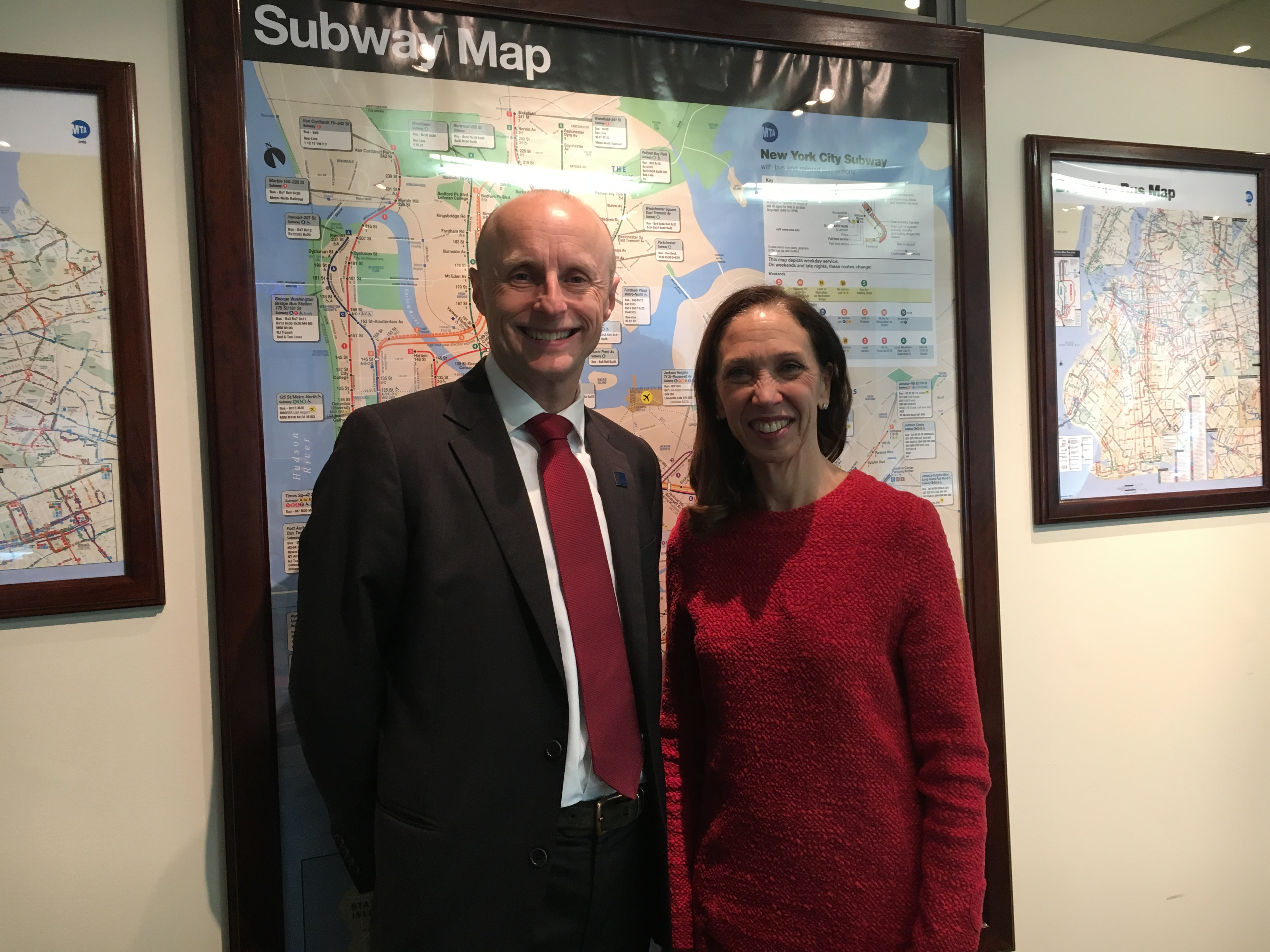 As Chair of the Committee on Corporations, Authorities, and Commissions, Assemblymember Amy Paulin met with NYC Transit Authority President Andy Byford to discuss the Subway's infrastructure and