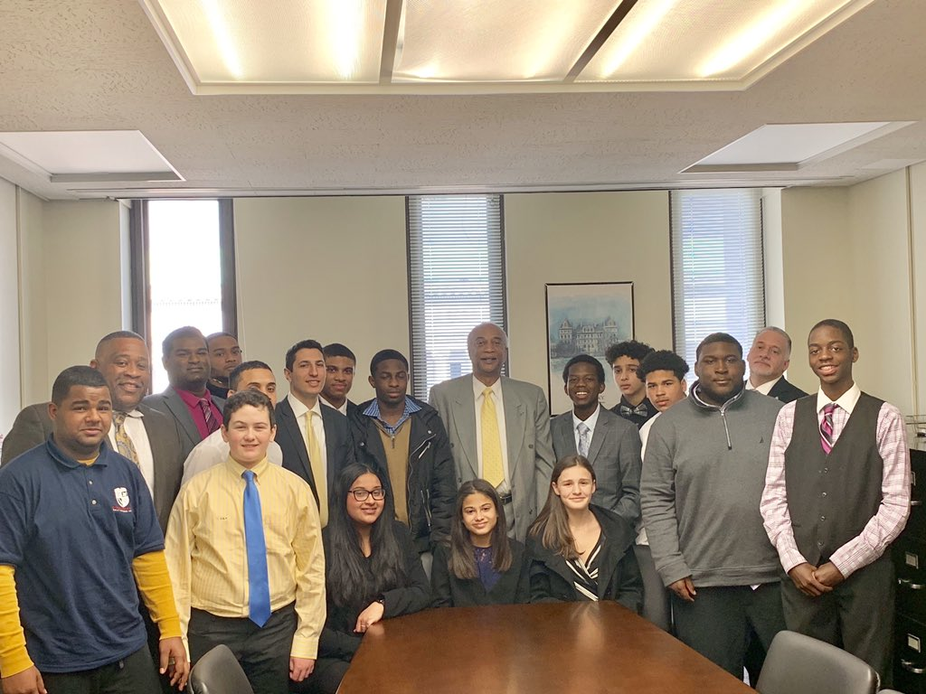 Assemblyman J. Gary Pretlow met with Yonkers Parent Teacher Association (PTA) in Albany, New York.
