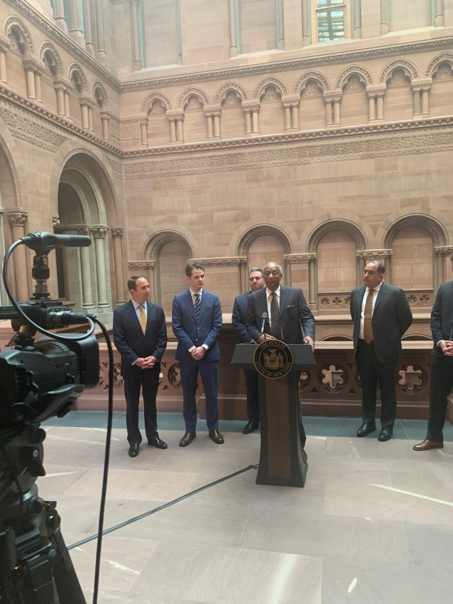 On May 8th, 2019 Assemblyman Pretlow had a press conference with Senator Addabbo and some key stakeholders to discuss the importance of moving the mobile sports betting bill.