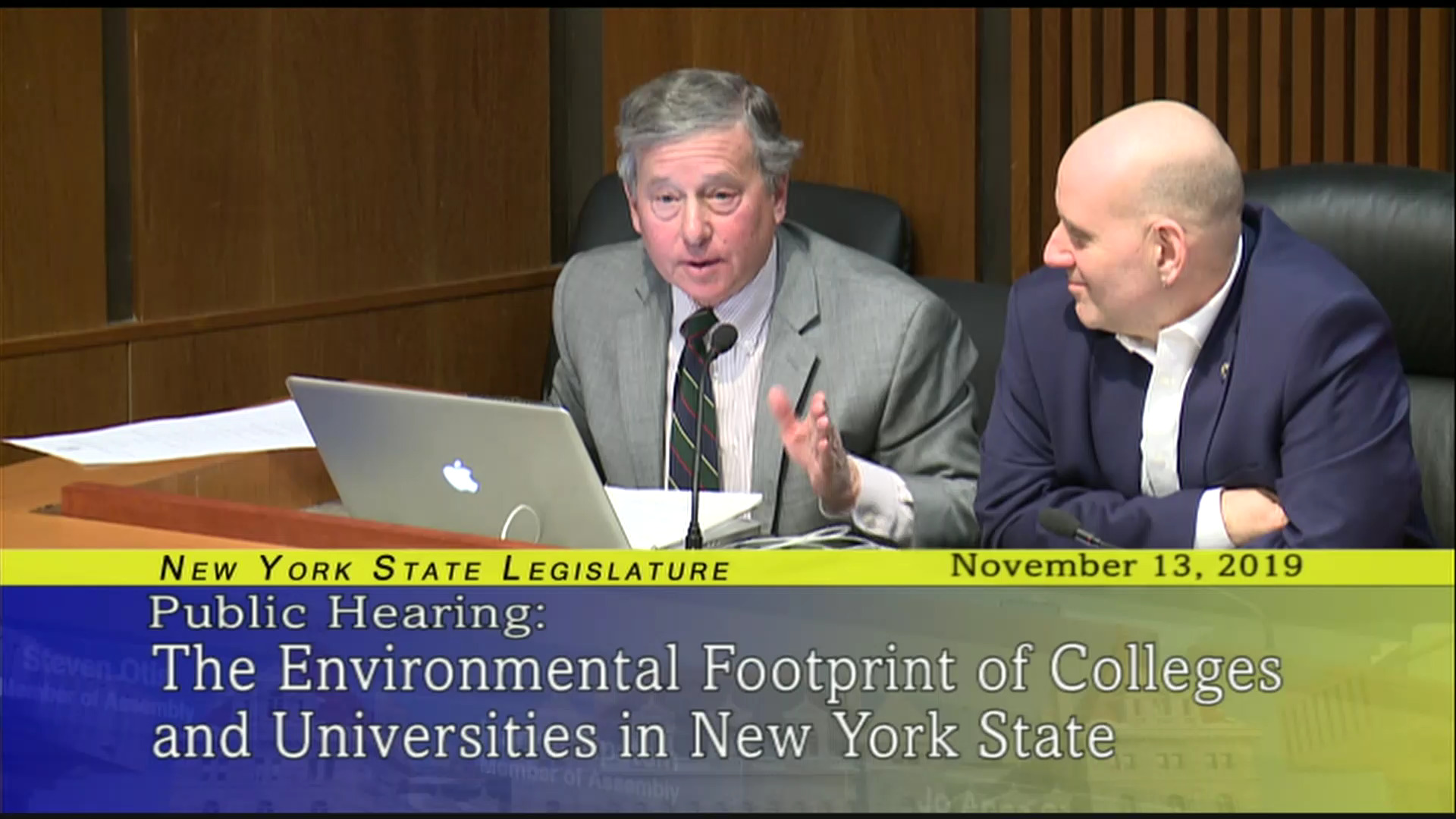 Discussion on the Environmental Footprint of Colleges and Universities in NY