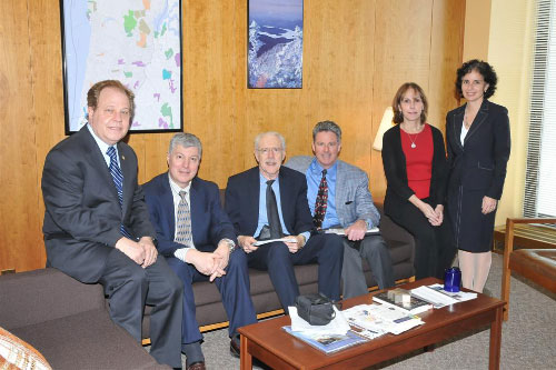 Assemblyman Abinanti with Mr. Brian Foy, Executive Director and colleagues of the Westchester Medical Society joined by Joanne Sold, Chief of Staff and Allysa Jacobs, Director of Constituent Services.